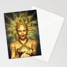 Beautiful golden sun goddess Stationery Cards