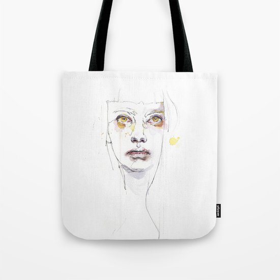 Golden eyes girl Tote Bag