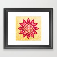 Mandala Savasana Framed Art Print