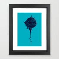 Wicked Wicked Rose (Black and Blue) Framed Art Print