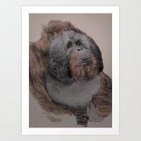 Orangutan! Art Print