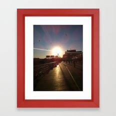 Boardwalk Framed Art Print