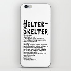 Helter Skelter (black on White) iPhone & iPod Skin