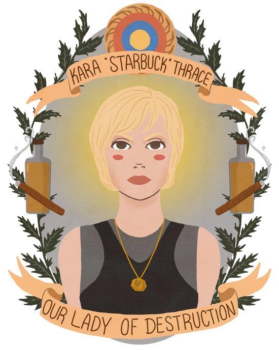 "Kara ""Starbuck"" Thrace Art Print"