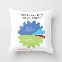 Group Projects Throw Pillow