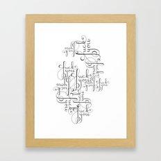 Cursive Cursing Framed Art Print