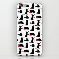 Cats Black on White iPhone & iPod Skin