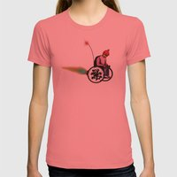 derp Womens Fitted Tee Pomegranate SMALL