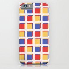 Three Colors Cube Geometry Pattern iPhone 6 Slim Case