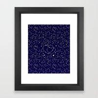 Star Lovers Framed Art Print