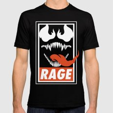 Rage. Black SMALL Mens Fitted Tee