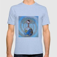Balanced Earth Mens Fitted Tee Athletic Blue SMALL
