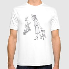 Taxi SMALL White Mens Fitted Tee