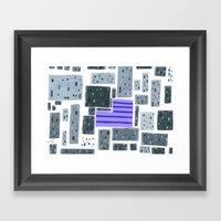 Derelict City, Lavender … Framed Art Print