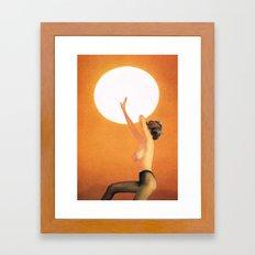 Girl In The Sun... (One Thing...) Framed Art Print