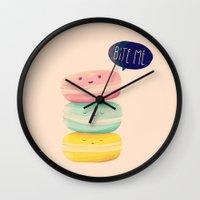 Bite Me Wall Clock