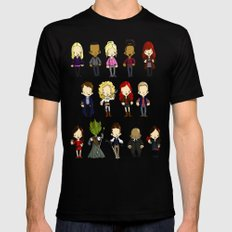 Doctors Companions and Friends V.2 SMALL Mens Fitted Tee Black