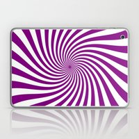 Swirl (Purple/White) Laptop & iPad Skin