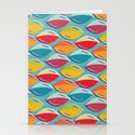 Abstract Shape Repeat Stationery Cards