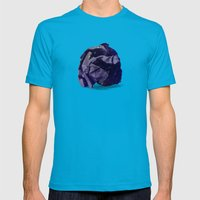 Waste of Space Mens Fitted Tee Teal SMALL