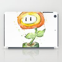 Fireflower Mario Watercolor iPad Case
