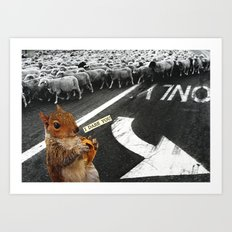 You Don't Have To Follow The Crowd Art Print
