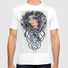 Salvage Beauty White SMALL Mens Fitted Tee