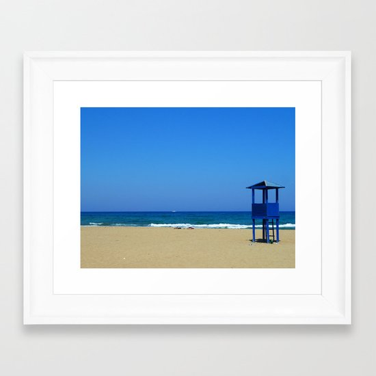 Creta Seeside Framed Art Print