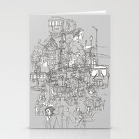 Interlocking Lives, Line… Stationery Cards