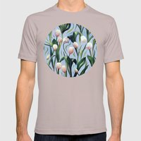 Waiting on the Blooming - a Tulip Pattern Mens Fitted Tee Cinder SMALL