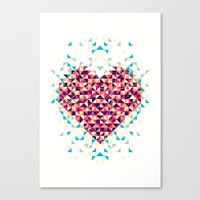 A heart is made of bits and pieces Canvas Print