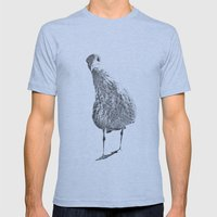 Inquisitive seagull Mens Fitted Tee Athletic Blue SMALL