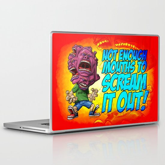 Not Enough Mouths To Scream It Out Laptop & iPad Skin