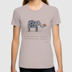 polka dot elephants serving us pie Womens Fitted Tee Cinder SMALL