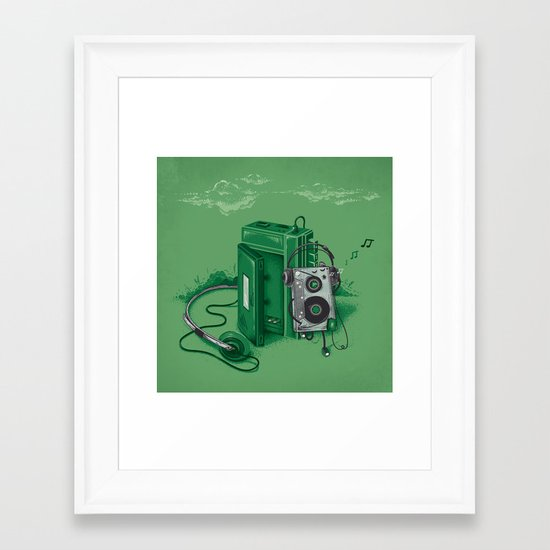 Music Break Framed Art Print