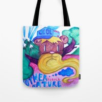 Mother Purple Nature Tote Bag