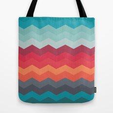 Color strips pattern Tote Bag
