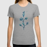 Baby Blue #2 Womens Fitted Tee Athletic Grey SMALL