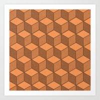 Sand Cubes Art Print