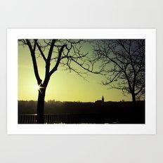 Derry Silhouette Art Print