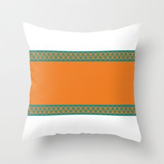 Aqua & Orange Throw Pillow