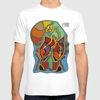 Stuck In Colour Mens Fitted Tee White SMALL
