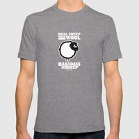 Baaadass The Sheep: Real… Mens Fitted Tee Tri-Grey SMALL