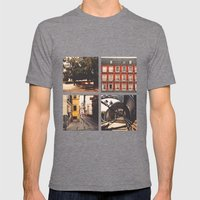 Madrid's lines Mens Fitted Tee Tri-Grey SMALL