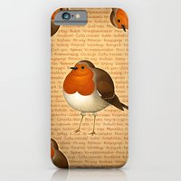 iPhone Cases featuring Chubby Erithacus by Pepetto
