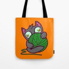 Kitty and Yarn Tote Bag