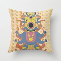 They Came From The Brain Throw Pillow