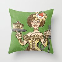 Tiramisu Throw Pillow