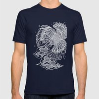 The Garuda Mens Fitted Tee Navy SMALL