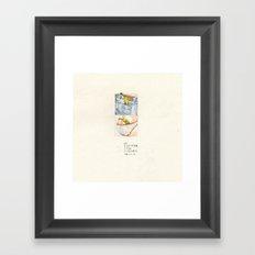 i'm not a banana-VI Framed Art Print